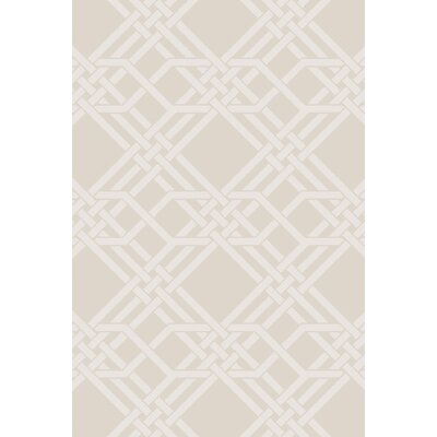 Arias Hand-Woven Ivory Area Rug Rug Size: Rectangle 2 x 3