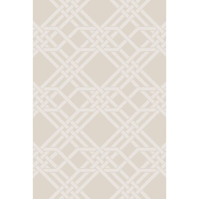 Arias Hand-Woven Ivory Area Rug Rug Size: 2 x 3