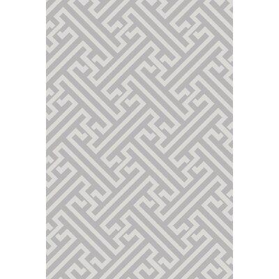 Arias Hand-Woven Light Gray Area Rug Rug Size: 9 x 13
