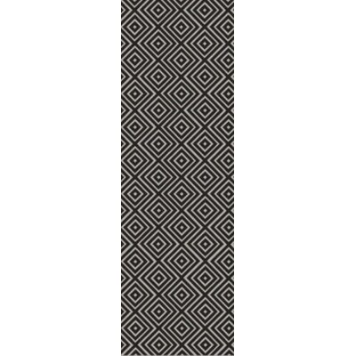 Arenas Hand-Woven Charcoal Area Rug Rug Size: Runner 26 x 8