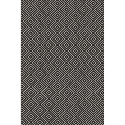 Arenas Hand-Woven Charcoal Area Rug Rug Size: 4 x 6