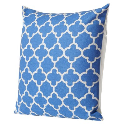Arbogast Print Cotton Throw Pillow Color: Marine Blue