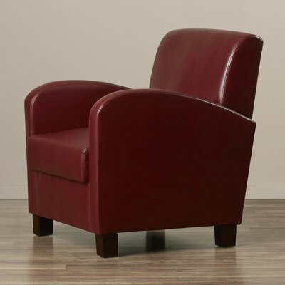Goodland Eco Leather Club Chair Color: Crimson Red