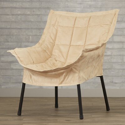 Weccacoe Lounge Chair Color: Beige