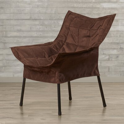 Weccacoe Lounge Chair Color: Brown