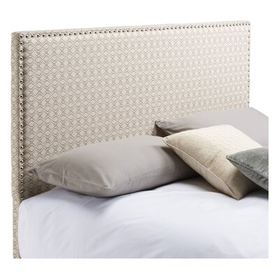 Third Avenue in Gray Dot Matrix Upholstered Panel Headboard Size: King / California King