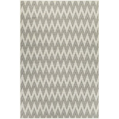 Hillside Avenue Ivory/Sand Indoor/Outdoor Area Rug Rug Size: 53 x 76