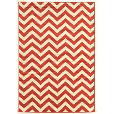 Park Row Terracotta Area Rug Rug Size: Rectangle 8 x 102