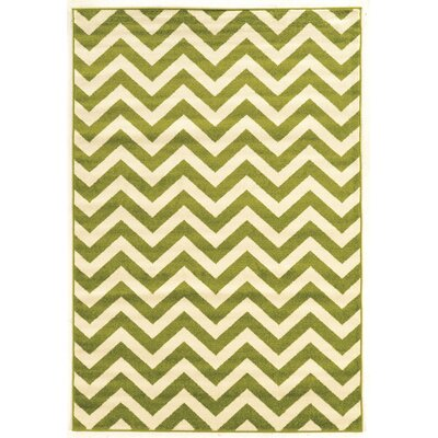 Amidon Green Area Rug Rug Size: Rectangle 5 x 7
