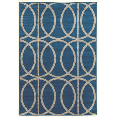 Mancini Blue Area Rug Rug Size: Rectangle 8 x 102