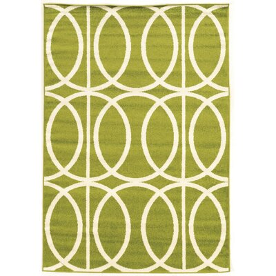 Jambi Green Area Rug Rug Size: Rectangle 5 x 7