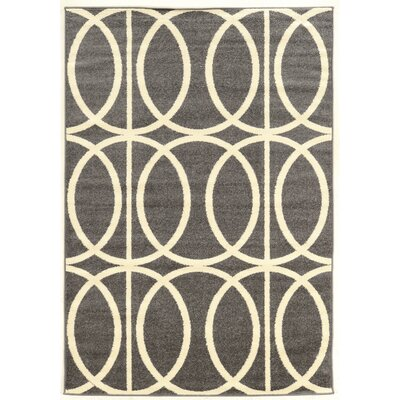 Titus Grey Area Rug Rug Size: Rectangle 5 x 7