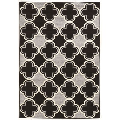 Biquele Black / Grey Area Rug Rug Size: Rectangle 5 x 7
