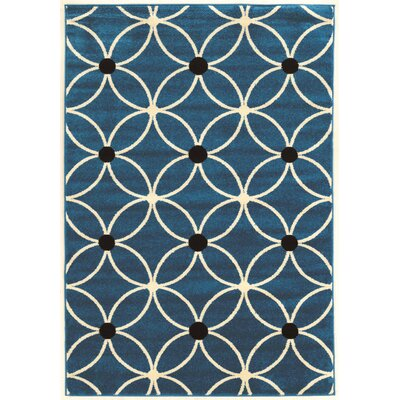 Belding Machine Woven Blue Area Rug Rug Size: Rectangle 5 x 7