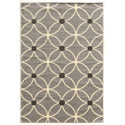 Park Row Gray Area Rug Rug Size: 5 x 7