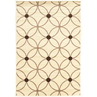 Pekanbaru Cream/Grey Area Rug Rug Size: 2' x 3'