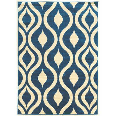 Tebikerei Blue Area Rug Rug Size: Rectangle 5 x 7