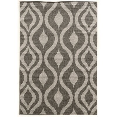 Park Row  Grey Area Rug Rug Size: Rectangle 5 x 7