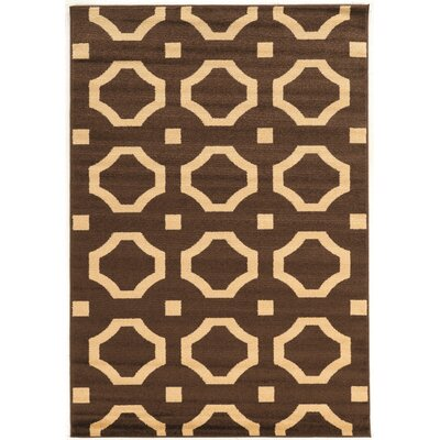 Queanbeyan Brown Area Rug Rug Size: Rectangle 5 x 7