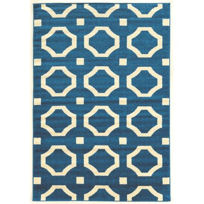 Hamza Blue Area Rug Rug Size: Rectangle 5 x 7