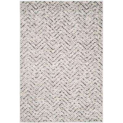 Schacher Ivory/Charcoal Area Rug Rug Size: 6 x 9