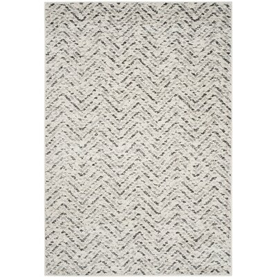 Schacher Ivory/Charcoal Area Rug Rug Size: 51 x 76