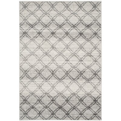 Schacher Silver/Charcoal Area Rug Rug Size: 4 x 6