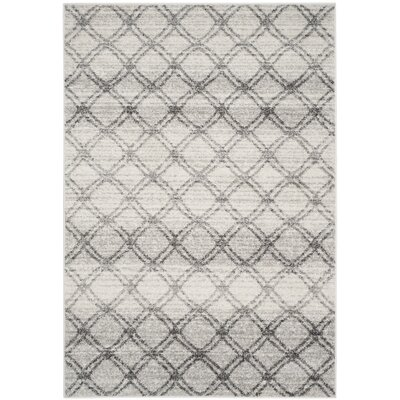 Schacher Silver/Charcoal Area Rug Rug Size: 51 x 76