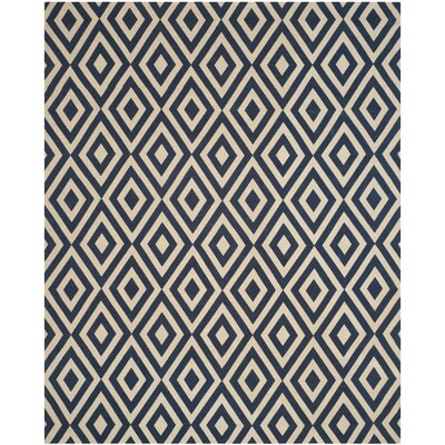 Columbus Circle Hand-Loomed Ivory / Navy Area Rug
