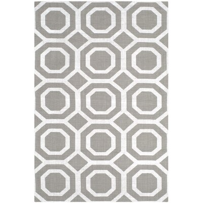 Columbus Circle Brook Hand-Loomed Grey/Silver Area Rug Rug Size: 4 x 6