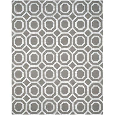 Columbus Circle Brook Hand-Loomed Grey/Silver Area Rug
