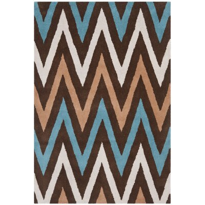 Rose Hand-Tufted Brown Area Rug Rug Size: 4 x 6