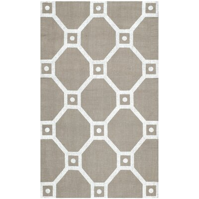 Columbus Circle Hand-Loomed Grey/Silver Area Rug Rug Size: Rectangle 23 x 39