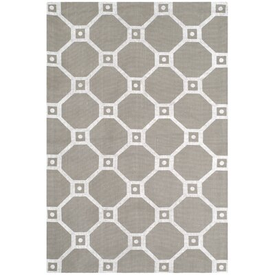 Columbus Circle Hand-Loomed Grey/Silver Area Rug Rug Size: 4 x 6