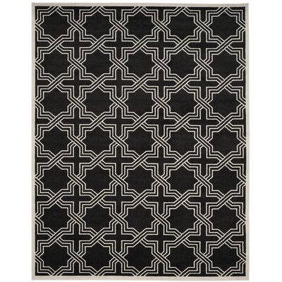 Waverly Place Black/Ivory Indoor/Outdoor Area Rug Rug Size: Rectangle 8 x 10