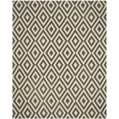 Columbus Circle Hand-Loomed Ivory/Grey Area Rug Size: 23 x 39
