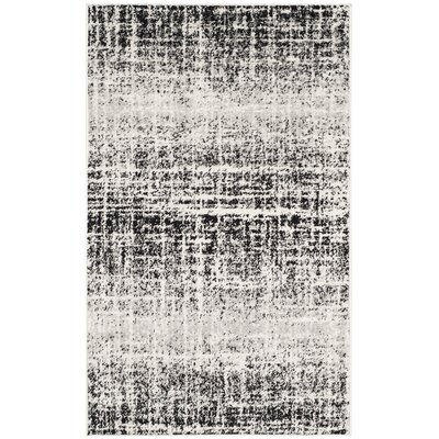 Schacher Ivory/Silver Area Rug Rug Size: 6 x 9