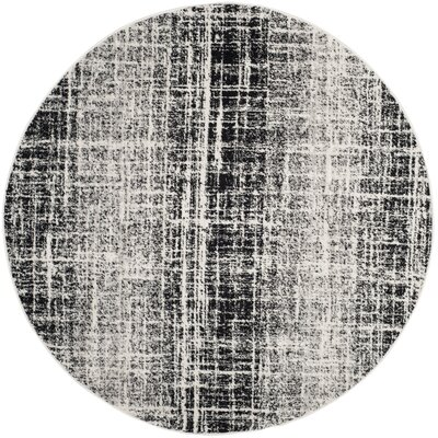 Norwell Gray/Black Area Rug Rug Size: Square 4