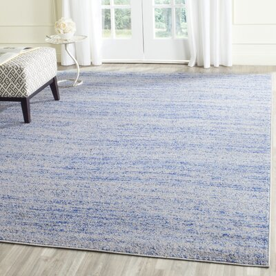 Schacher Blue/Silver Area Rug Rug Size: Rectangle 26 x 4
