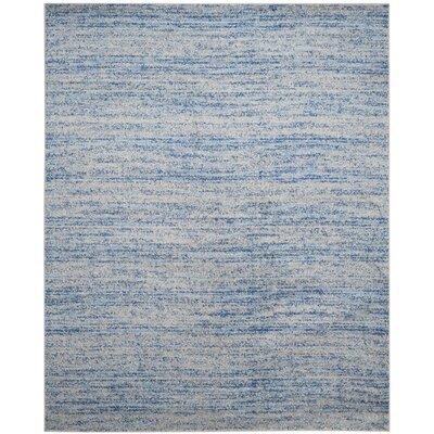 Schacher Blue/Silver Area Rug Rug Size: 4 x 6