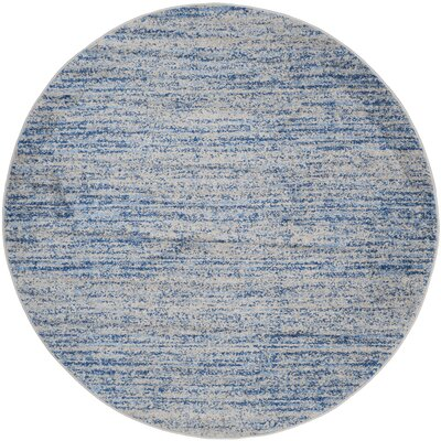 Millbrae Blue/Gray Area Rug Rug Size: Round 6