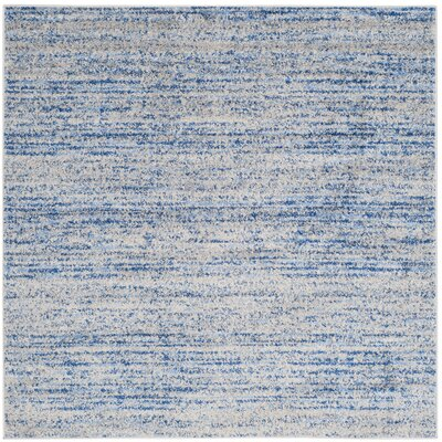 Millbrae Blue/Gray Area Rug Rug Size: Square 6