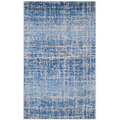 Schacher Blue/Silver Area Rug Rug Size: 4 x 6