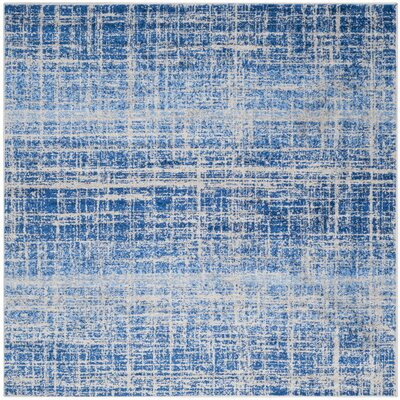 Schacher Blue/Silver Area Rug Rug Size: Square 6