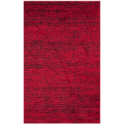 Schacher Red/Black Area Rug Rug Size: 4 x 6