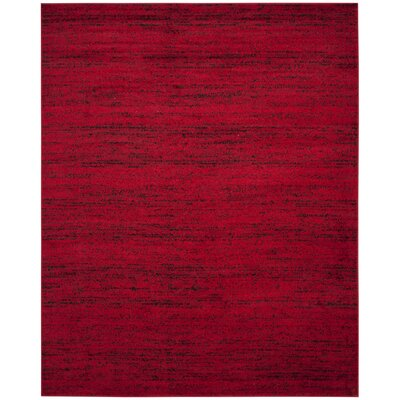 Schacher Red/Black Area Rug Rug Size: 51 x 76