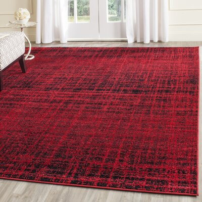Schacher Red/Black Area Rug Rug Size: 8 x 10