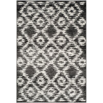 Schacher Charcoal/Ivory Area Rug Rug Size: 51 x 76