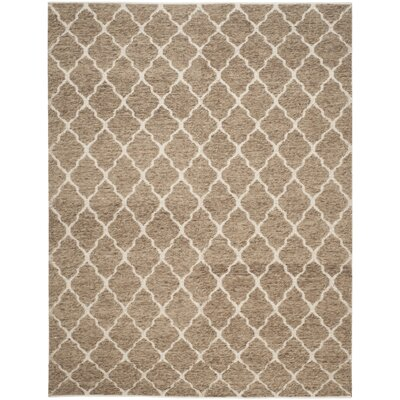 Vermont Hand-Woven Beige/Ivory Area Rug Rug Size: 6 x 9