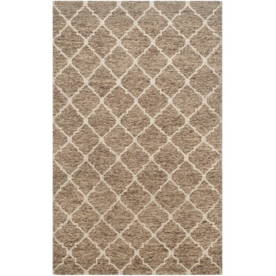 Vermont Hand-Woven Beige/Ivory Area Rug Rug Size: 4 x 6